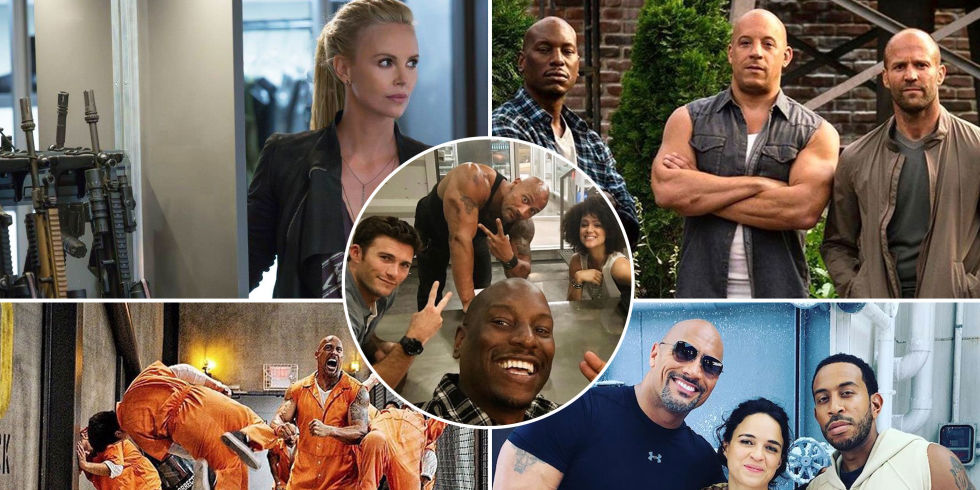 fast 8 charlize theron the rock michelle rodriguez ludacris tyrese - A Christmas Blessing Cast