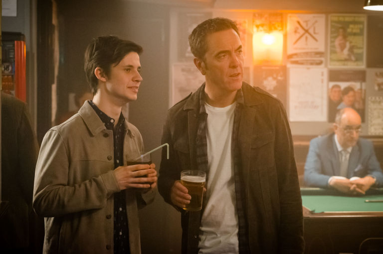 Cel Spellman and James Nesbitt in ITV's Cold Feet