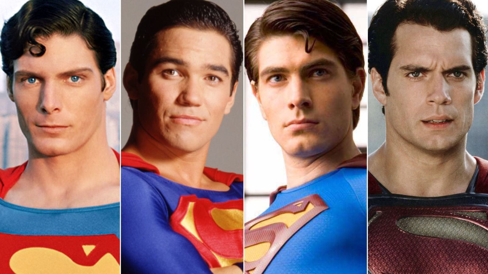 Superman Through The Ages Christopher Reeve Dean Cain Brandon Routh Henry Cavill
