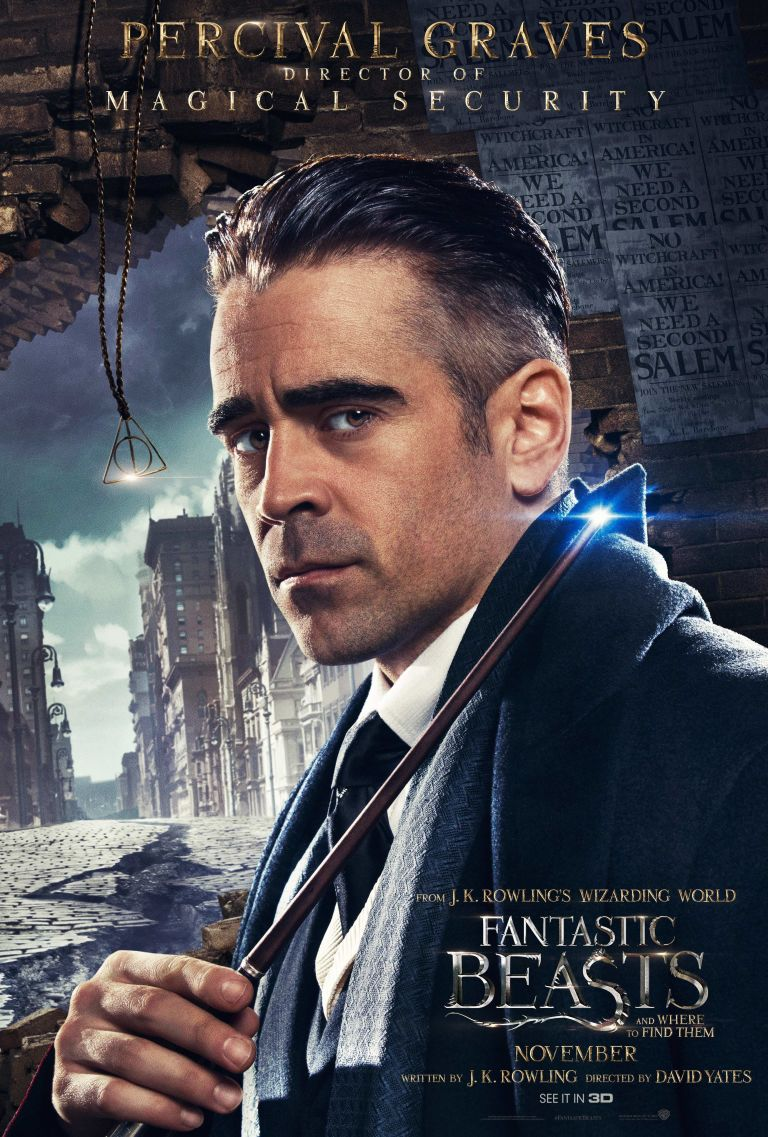 Why the hell is the deathly hallows symbol in colin farrells fantastic beasts percival poster biocorpaavc Gallery