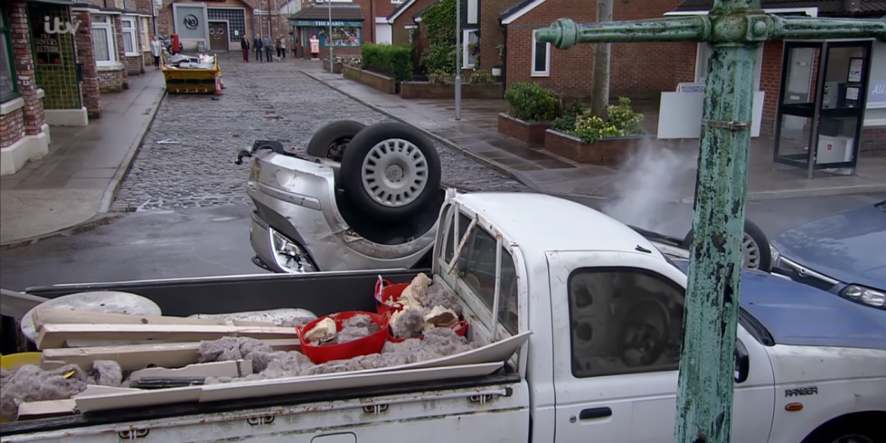 Watch Coronation Street\'s car crash from multiple angles in this ...