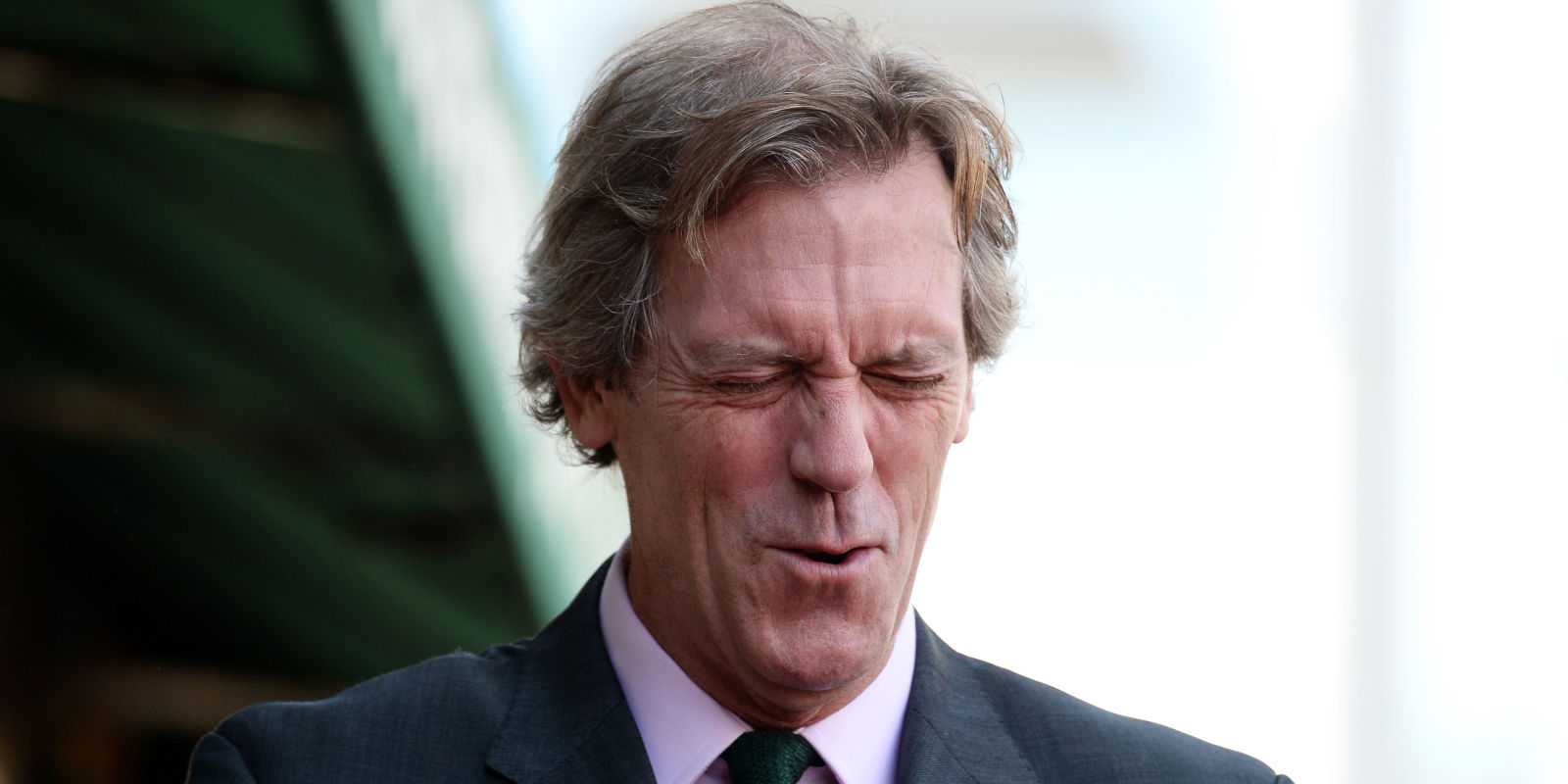 Hugh Laurie's reaction...