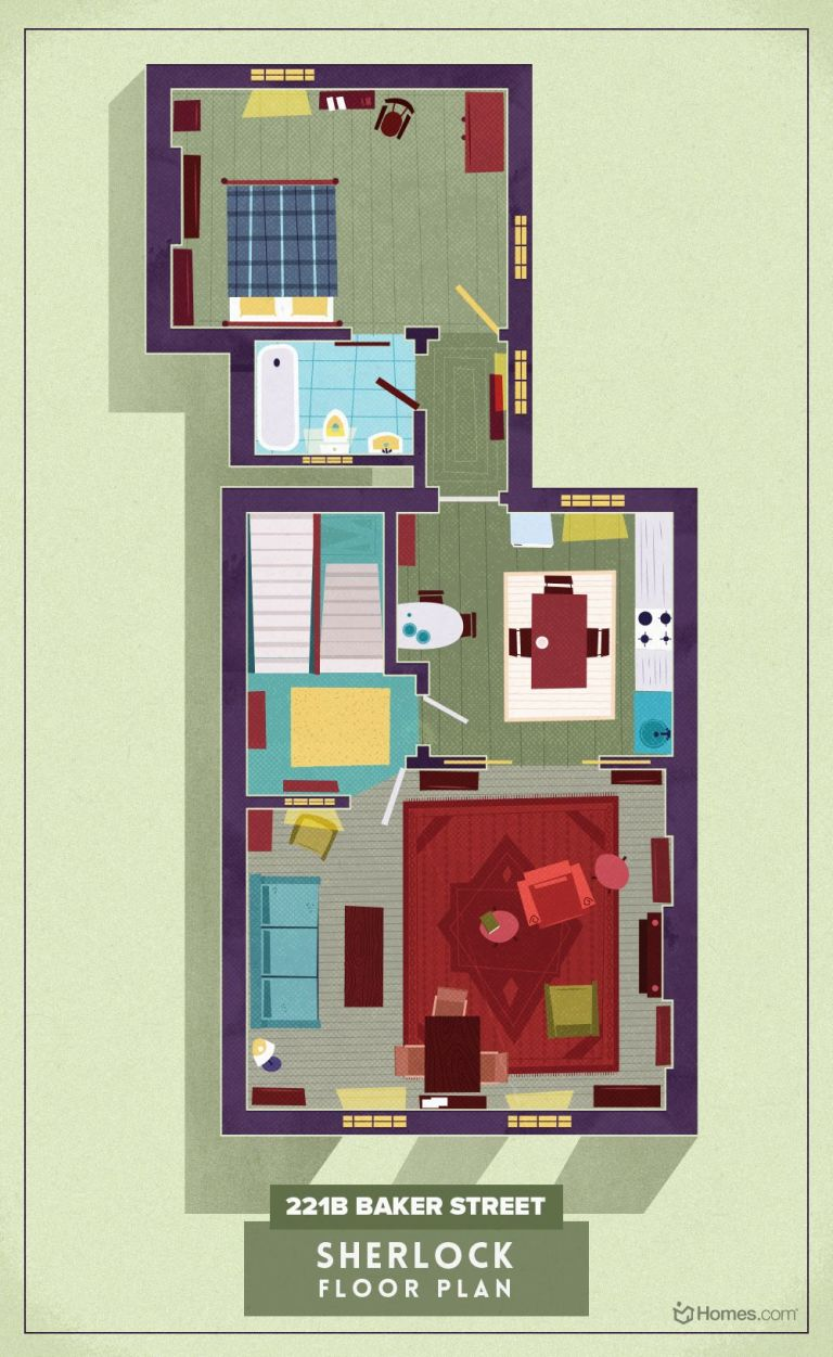 TV floorplans how the apartments in your favourite shows are – Floor Plans Of Tv Homes