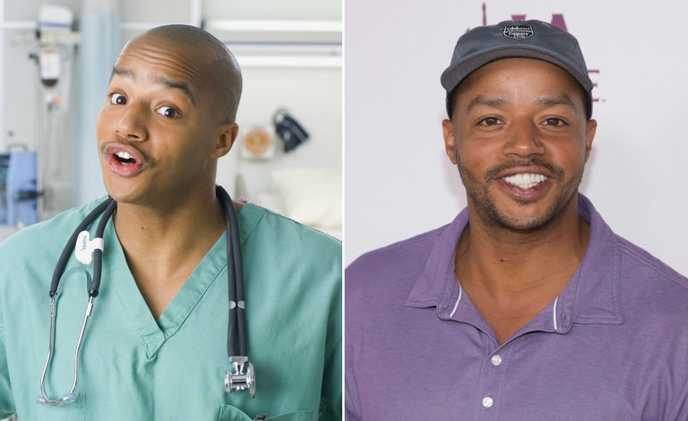 donald faison in scrubs and now