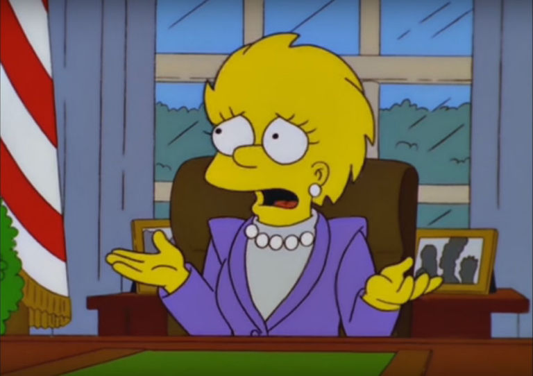 President Lisa Simpson in 'Bart to the Future'