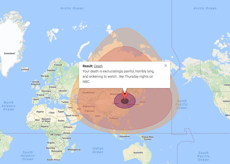 This Map Can Tell You If Your House Will Be Vaporised By A Nuclear - Nuclear fallout map us