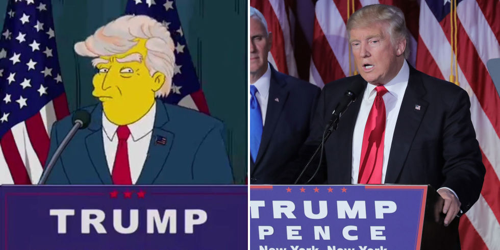 the simpsons predicted donald trump as president 16 years ago and