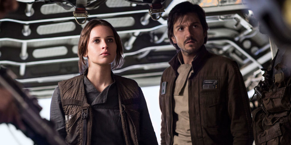 Jyn Erso and Cassian Andor in Rogue One