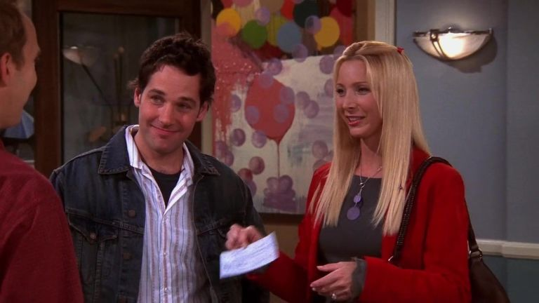 Mike Paul Rudd And Phoebe Lisa Kudrow In Friends