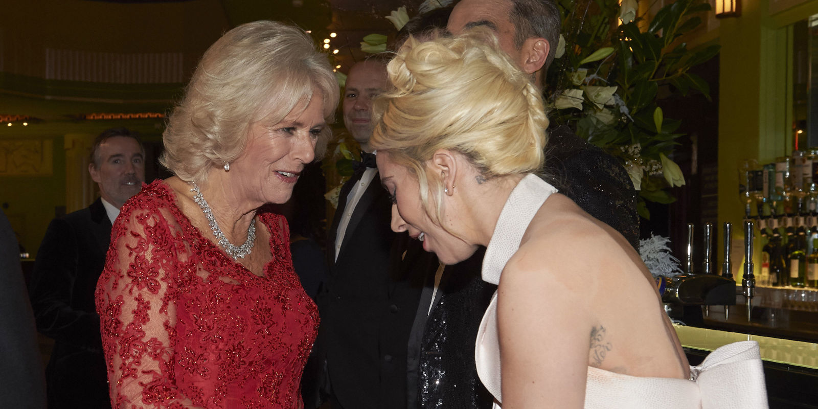 The Duchess Of Cornwall Has A Moment With Lady Gaga At Royal Variety