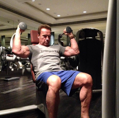 "Arnold Schwarzenegger has body insecurities too: ""When I ..."