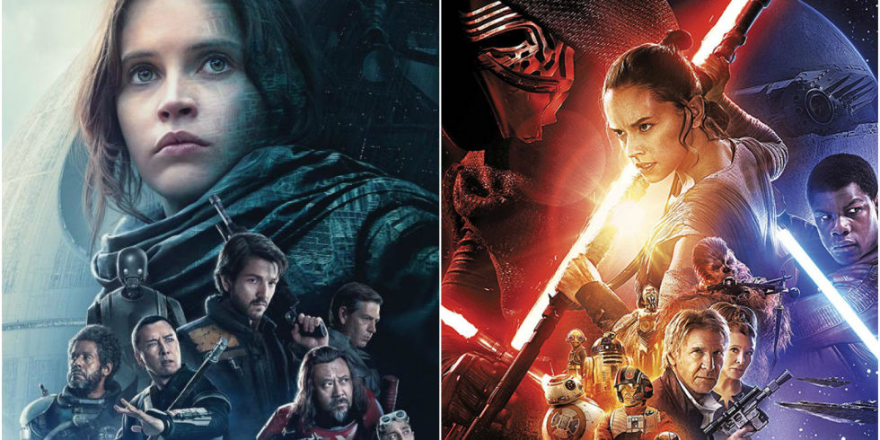 Star Wars Rogue One And The Force Awakens Posters