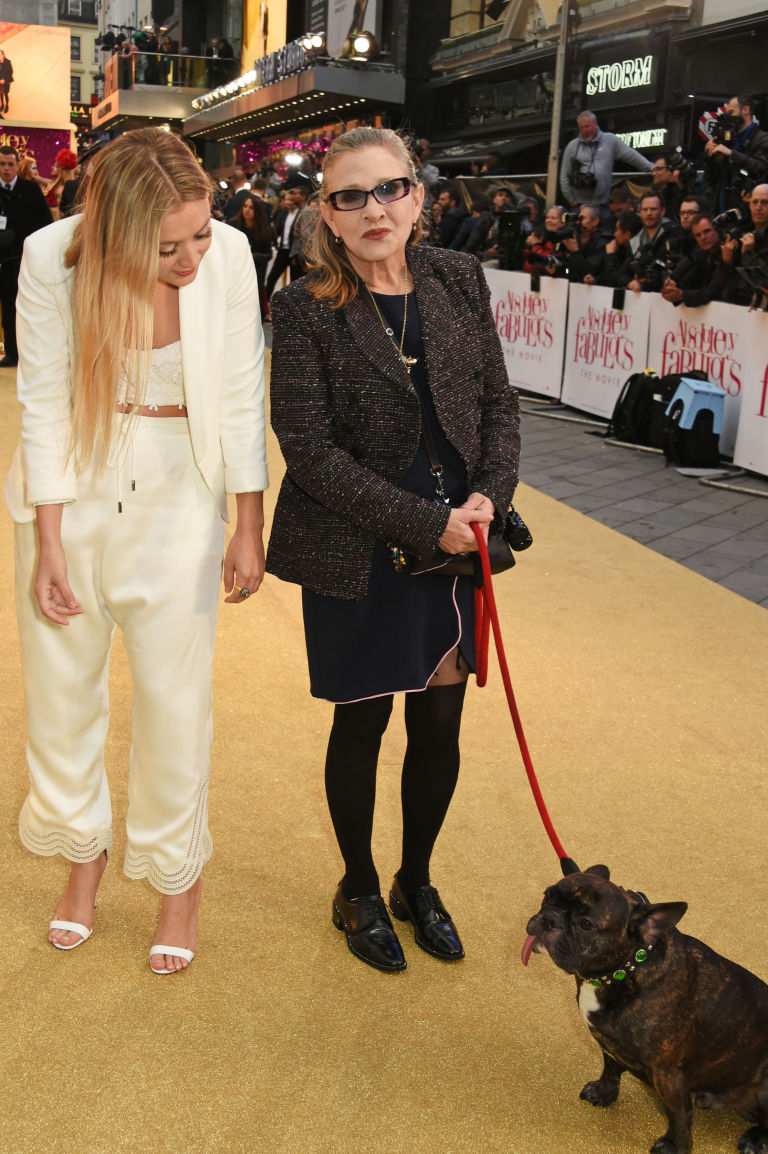 Carrie Fisher (c) And Daughter Billie Catherine Lourd Attend The World  Premiere Of '