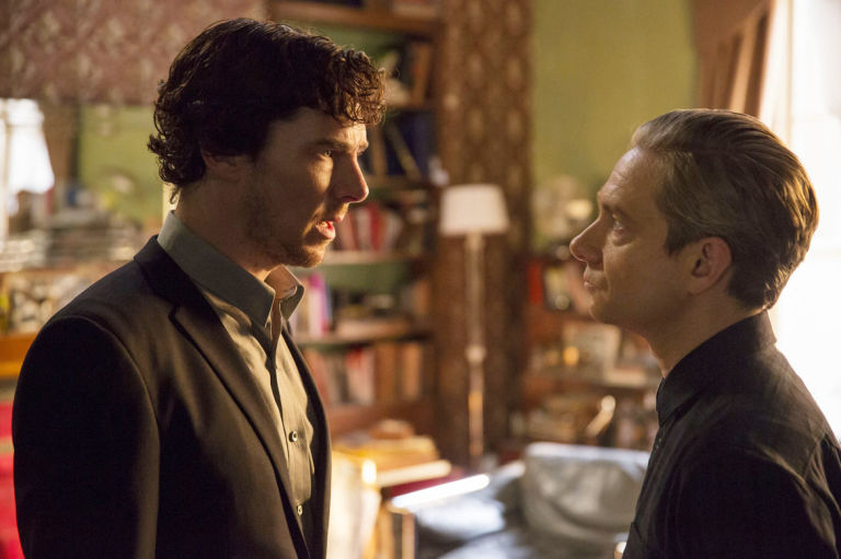 Sherlock and John in 'Sherlock' s04e02