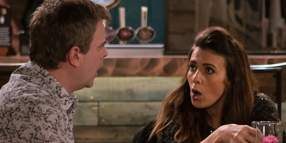 Michelle Connor Has A Meltdown While At The Bistro With Steve McDonald In Coronation Street