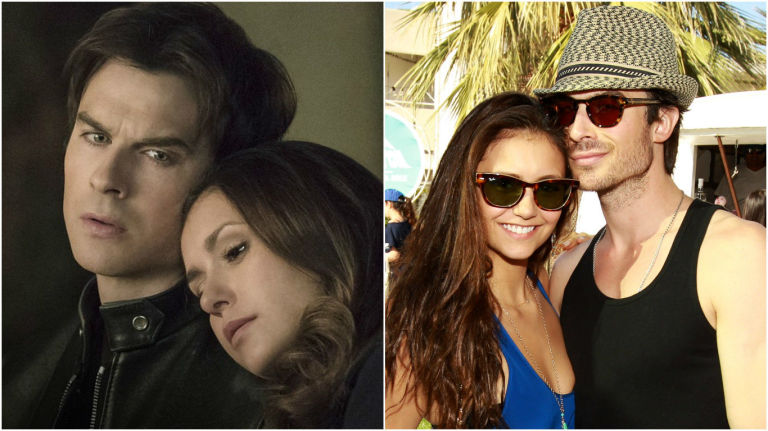 Is elena from vampire diaries hookup damon in real life