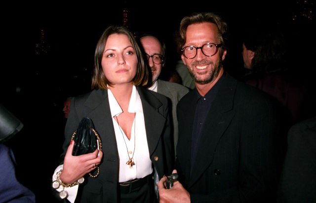 The 1992 Ivor Novello Awards Davina Mccall and Eric Clapton