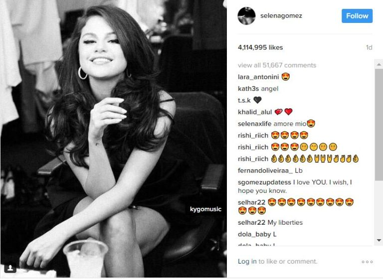 Selena gomez teases new music on instagram kygo tagged on selena gomezs instagram thecheapjerseys Image collections