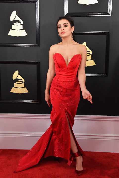 Red dress on red carpet outfit
