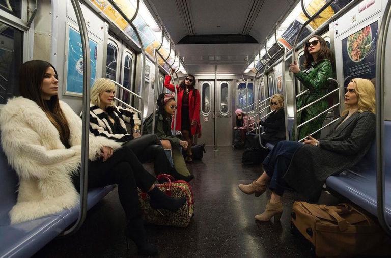 Ocean's 8 cast, official first look, Sandra Bullock, Cate Blanchett, Rihanna, Taraji P. Henson, Anne Hathaway, Sarah Paulson, Helena Bonham Carter, Mindy Kaling