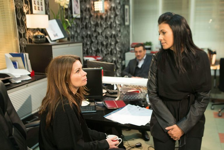 Carla Barlow and Michelle Connor in Coronation Street
