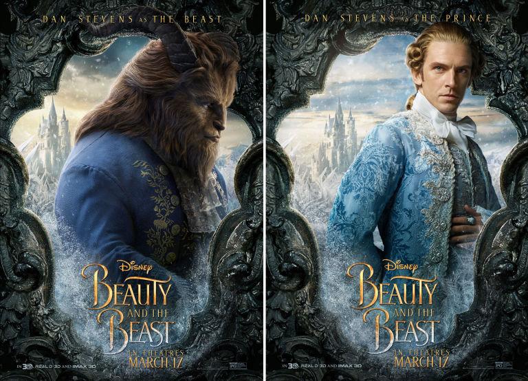 Beauty And The Beast Dan Stevens Prince Side By
