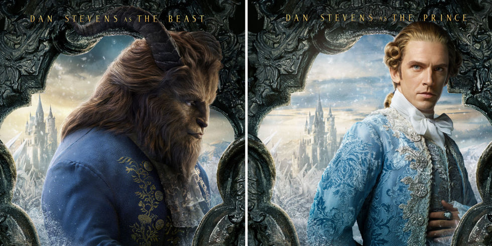 Beauty And The Beast Dan Stevens Prince Side By