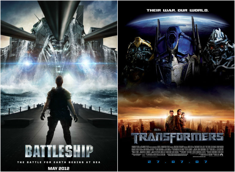 Battleship and Transformers posters