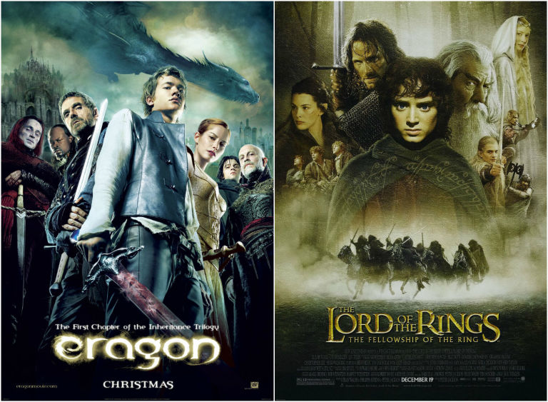 Eragon and Lord of the Rings posters
