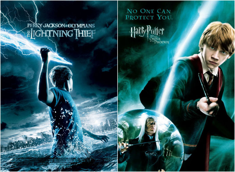 Percy Jackson and Harry Potter posters