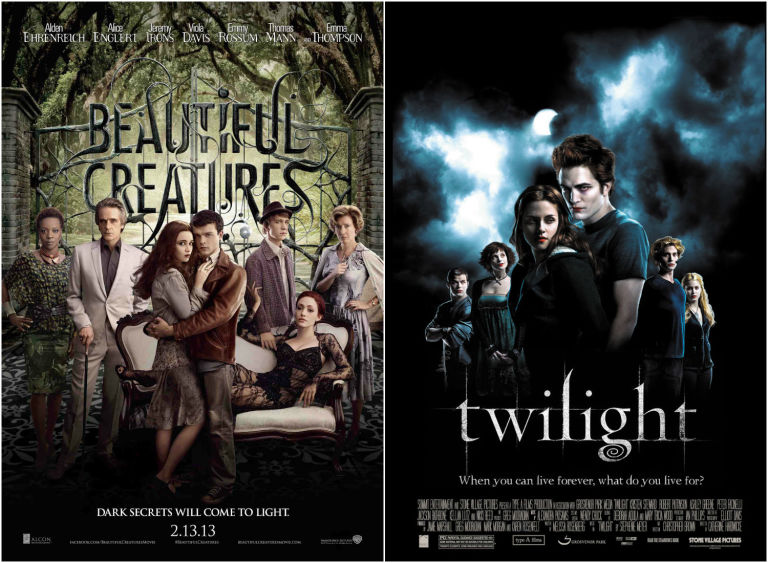 Beautiful Creatures and Twilight posters