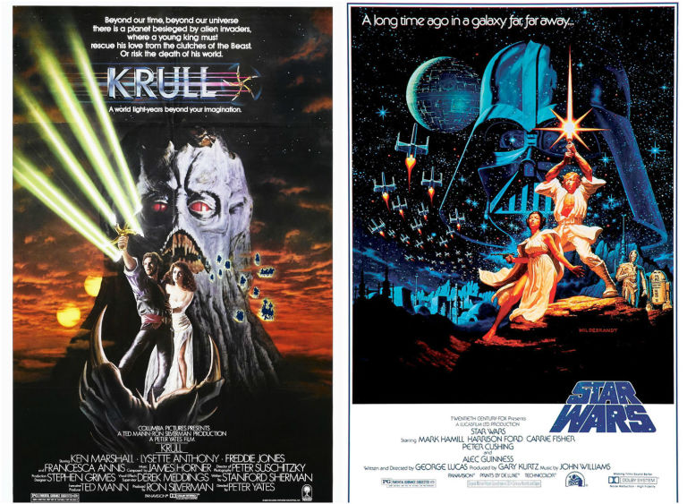 Krull and Star Wars posters