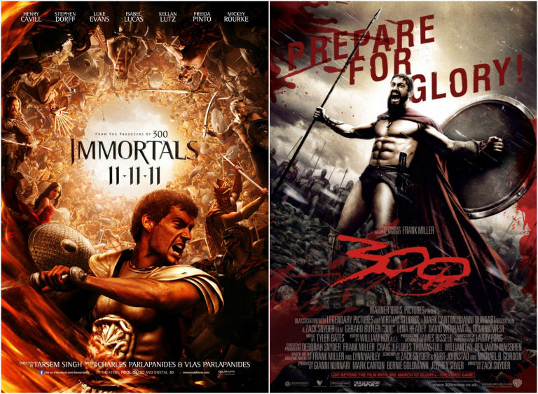 Immortals and 300 posters