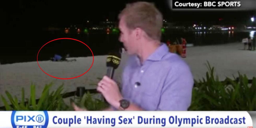 Sex caught on live tv