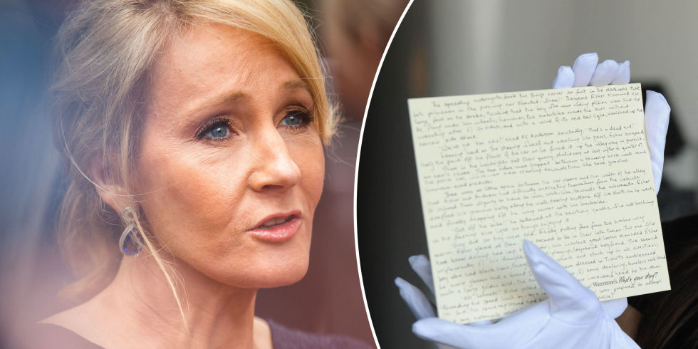 Image result for Harry Potter prequel handwritten on a postcard by JK Rowling stolen in a burglary in Birmingham