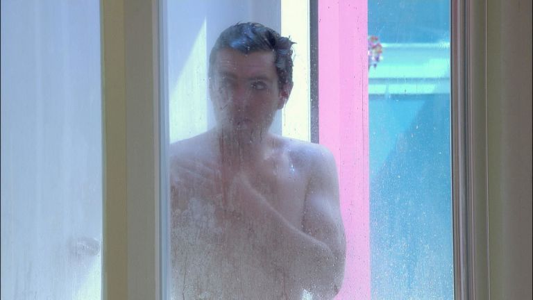 Big brother naked in shower