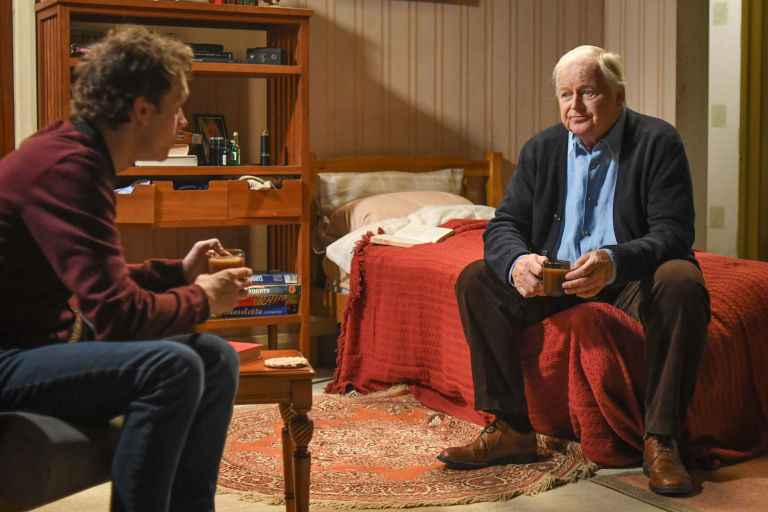 Johnny Carter and Derek Harkinson have a heart-to-heart in EastEnders