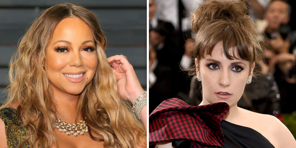 Mariah Carey and Lena Dunham