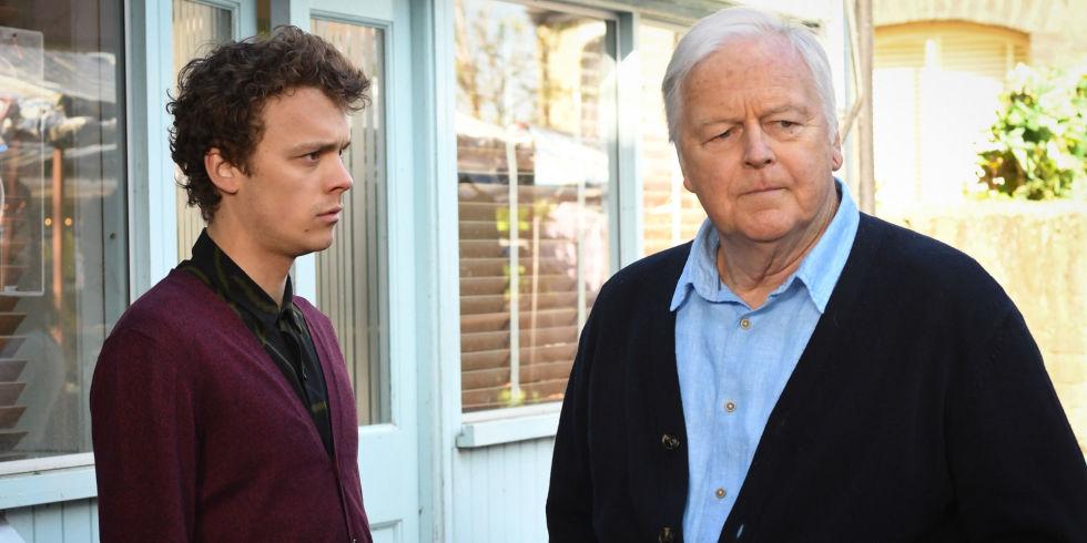 Derek Harkinson is angry with Johnny Carter in EastEnders