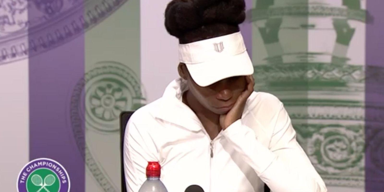Venus Williams breaks down in tears over fatal crash