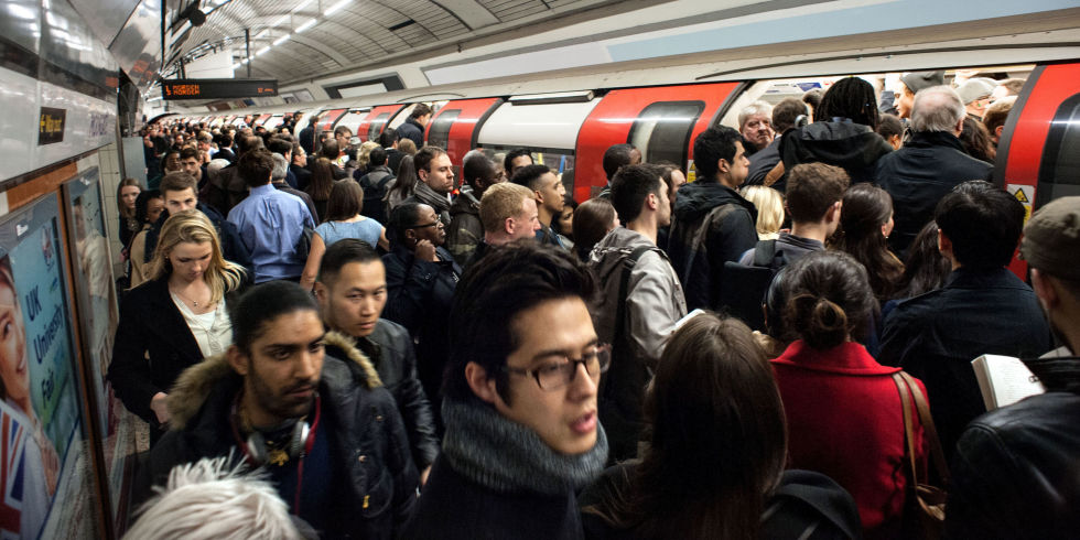 Image result for crowd london tube