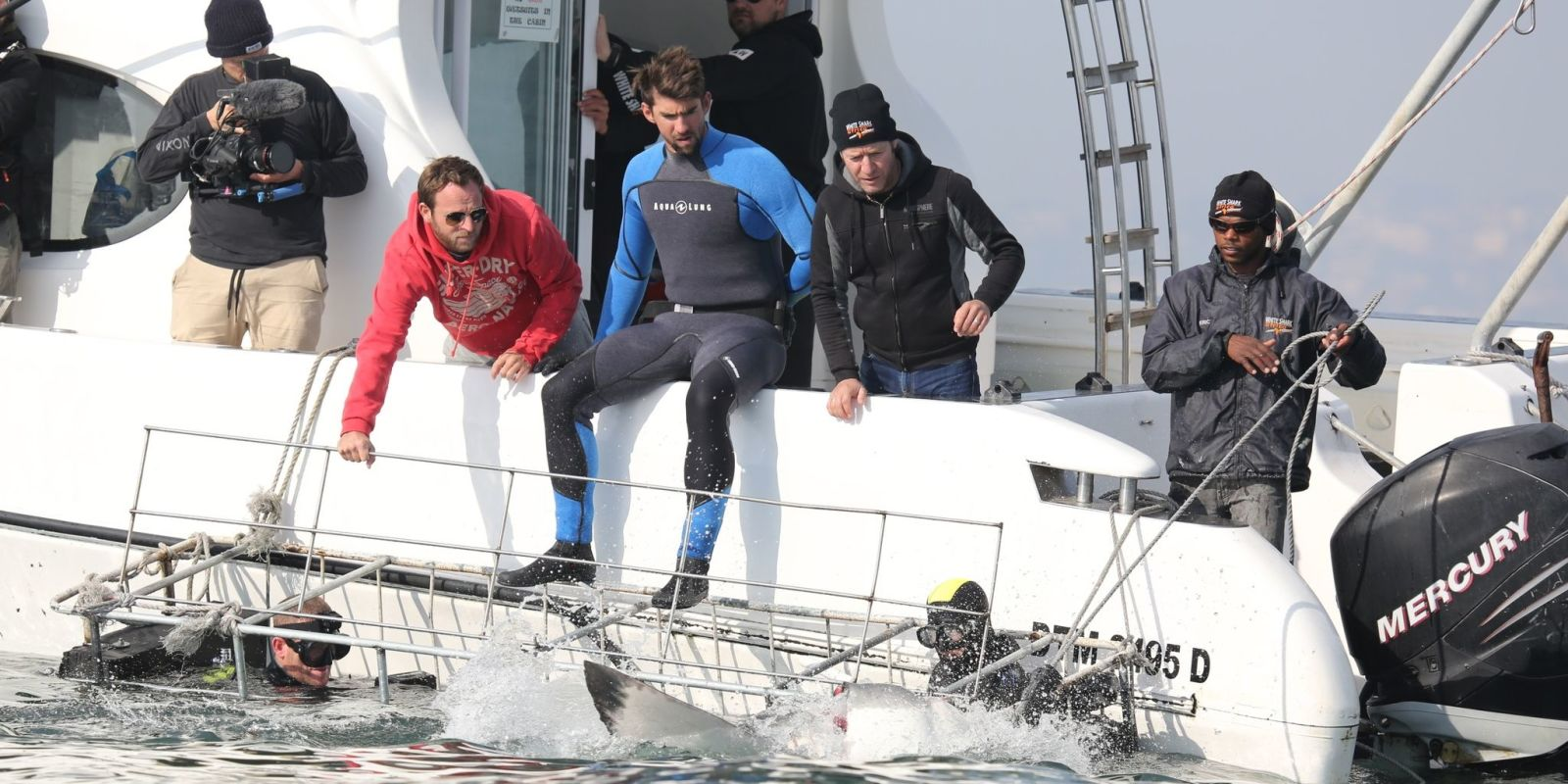 Michael Phelps defends racing against a CGI shark