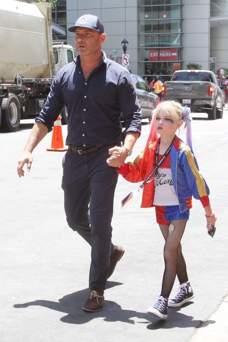 Liev Schreiber, Son at Comic Con, Harley Quinn