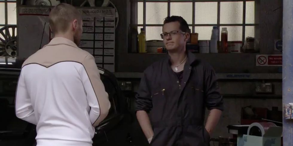 Ben Mitchell and Keanu Taylor in EastEnders