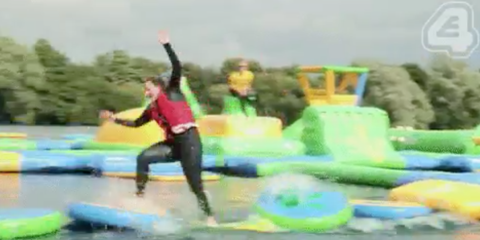 Youtube total wipeout celebrity special