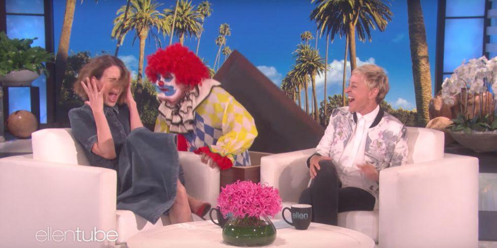 clown flowers horror art
