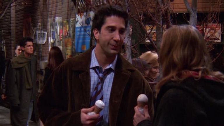 Ross Eats Ice Cream In Friends