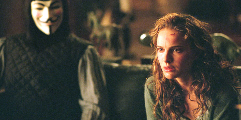 Natalie Portman, Hugo Weaving, V for Vendetta,
