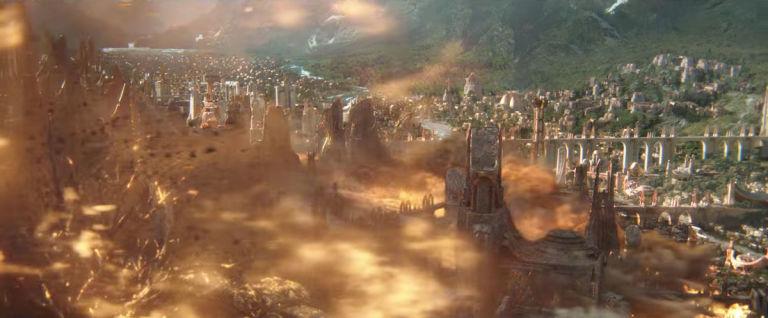 Resultado de imagem para thor ragnarok asgard destroyed