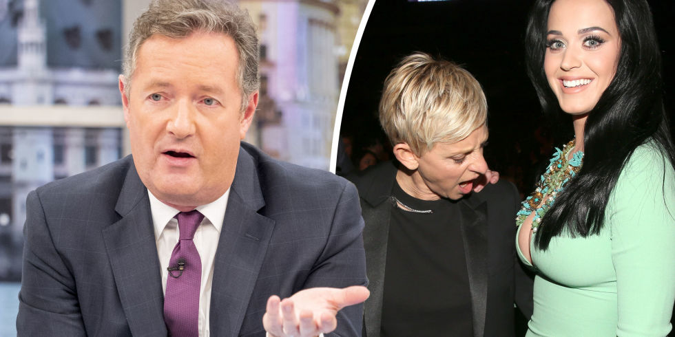 ellen degeneres blasted by piers morgan for pervy katy perry joke